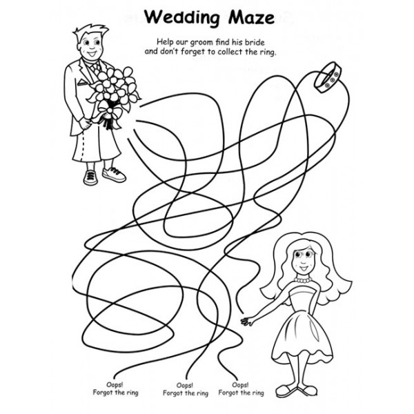 free wedding coloring pages to print - wedding free colouring pages